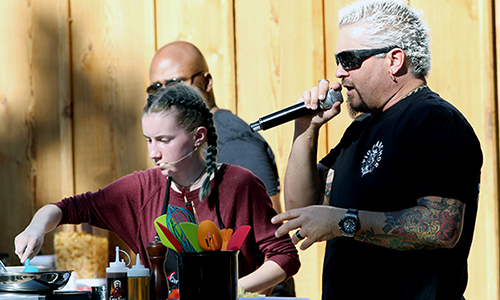 guy fieri coaches harper burt in cooking contest 500px.jpg