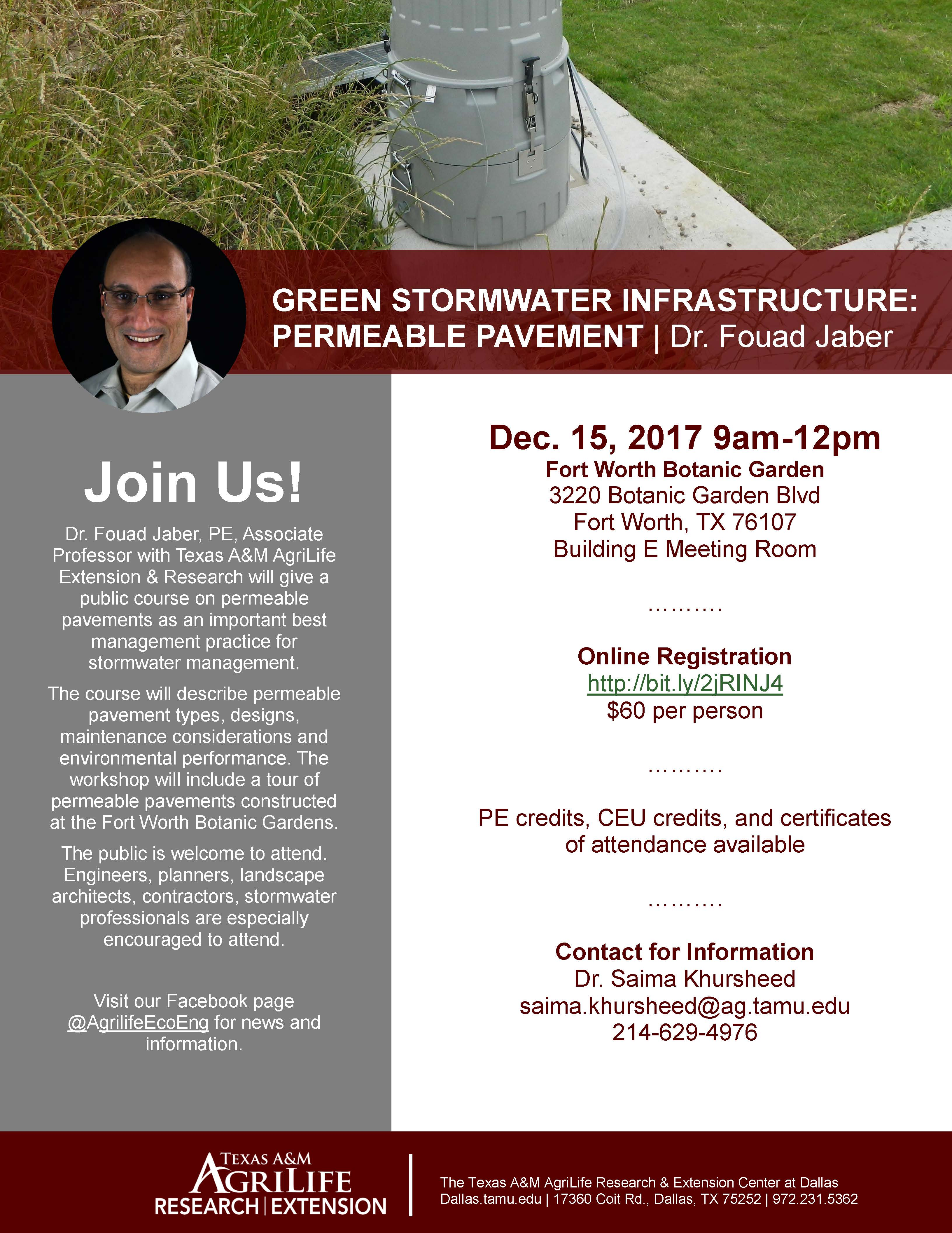 Flyer for permeable pavement course